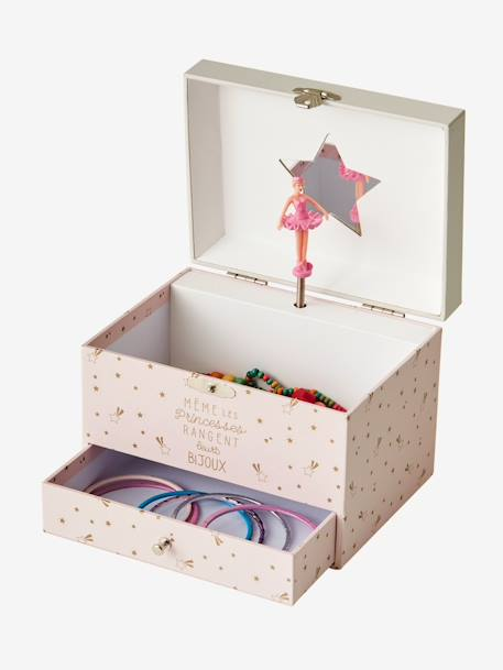 Musical Jewellery Box PINK LIGHT SOLID WITH DESIGN