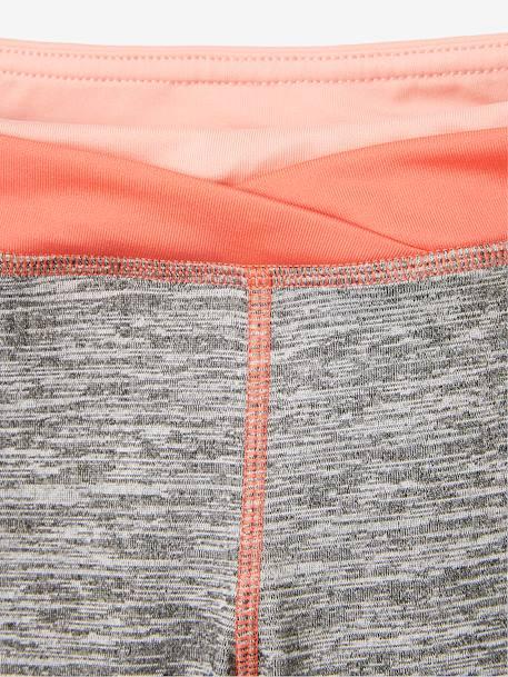9c9c1ff09 Sports Capri Leggings for Girls - grey medium mixed color, Girls ...