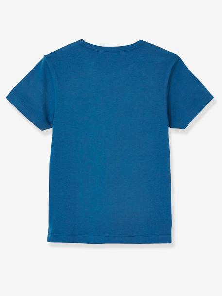 Pack of 3 Stretch T-shirts for Boys, Biscotto BLUE DARK TWO COLOR/MULTICOL