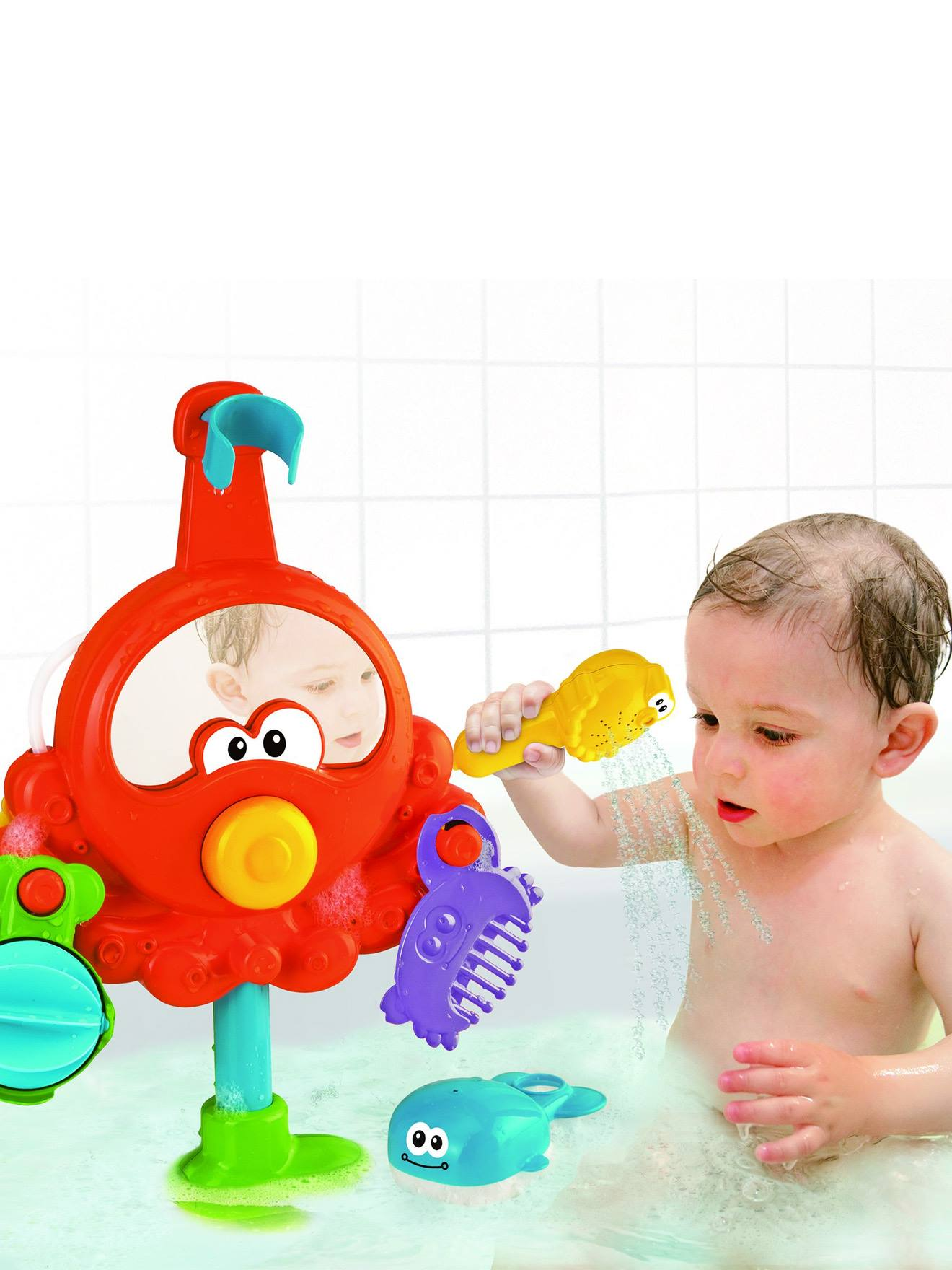 Bath Time Activity Octopus with Shower Toys