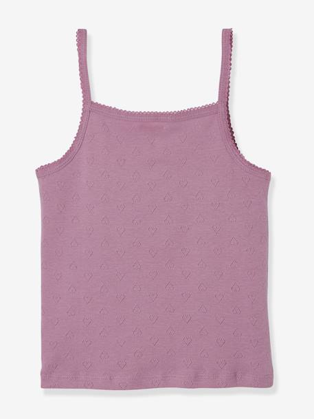 Pack of 3 Vest Tops for Girls PURPLE DARK 2 COLOR/MULTICOLOR