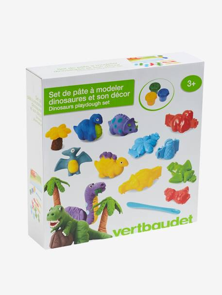Modelling Clay Set, Volcanic Dinosaur GREEN MEDIUM SOLID WITH DESIG