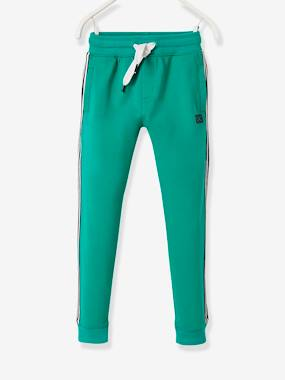 Joggers With Striped Panels On The Sides For Boys Green Medium Solid