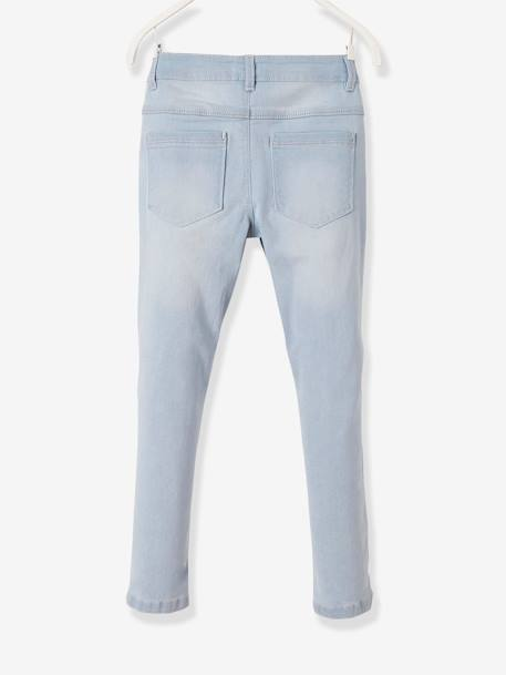 Slim Leg Jeans for Girls BLUE LIGHT SOLID