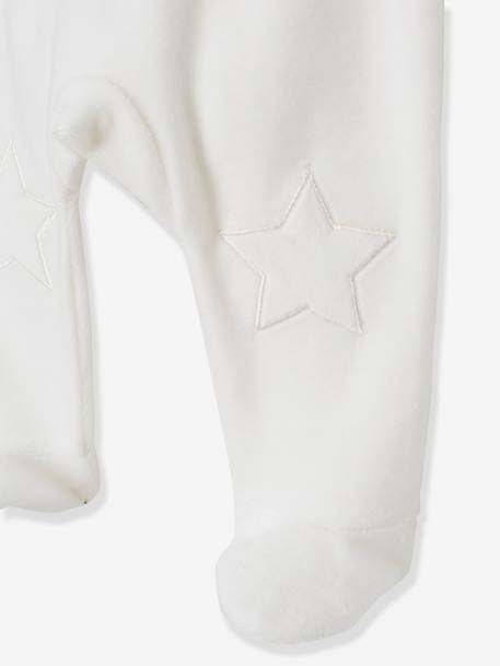 Pack of 2 Two-Piece Velour Pyjamas for Babies WHITE LIGHT TWO COLOR/MULTICOL