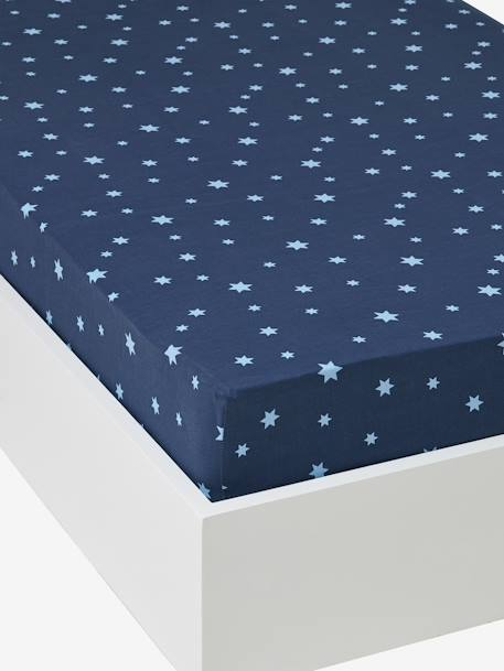Fitted Sheet, Stars in the Sky Theme Blue