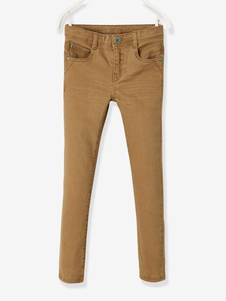 MEDIUM Fit - Boys' Slim Cut Trousers BLUE MEDIUM SOLID+BROWN MEDIUM SOLID+GREEN LIGHT SOLID+RED DARK SOLID+RED MEDIUM SOLID