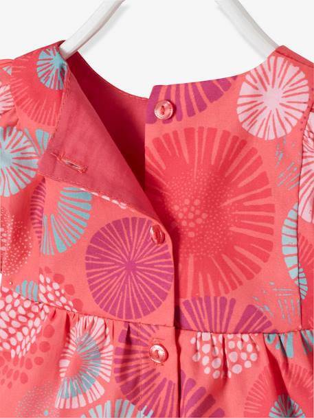 Baby Girls' Blouse, Headband and Treggings Outfit, with Flowers BLUE DARK ALL OVER PRINTED+RED LIGHT ALL OVER PRINTED