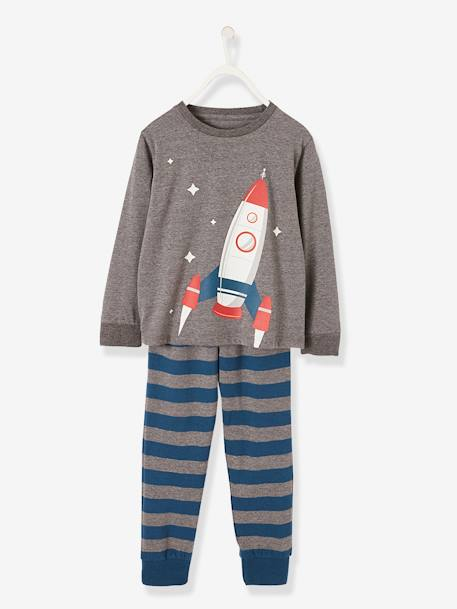 0a7fc08f33c20 Pyjamas with Glow-in-the-Dark Motif for Boys - grey medium mixed color