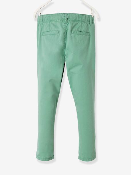 Chino Trousers for Boys BEIGE DARK SOLID+BLUE DARK SOLID+BLUE MEDIUM SOLID+GREEN LIGHT SOLID