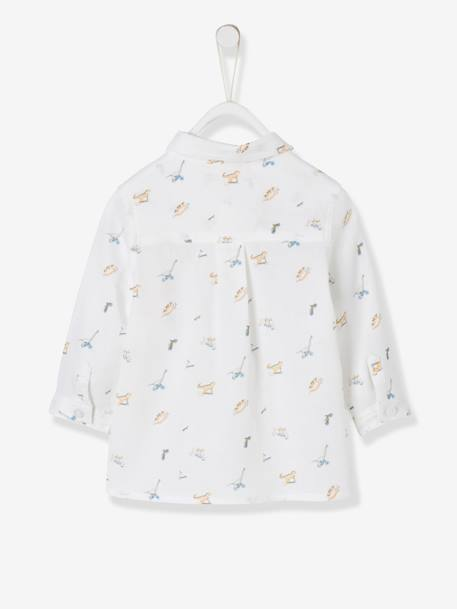 Shirt with Dinosaur Print for Baby Boys WHITE LIGHT ALL OVER PRINTED