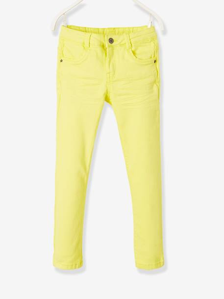 NARROW Fit - Girls' Slim Fit Trousers BLUE LIGHT SOLID+GREEN LIGHT SOLID+PINK BRIGHT SOLID+PINK MEDIUM SOLID+YELLOW MEDIUM SOLID