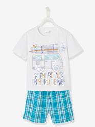 Boys-Nightwear-Dual Fabric Short Pyjamas for Boys