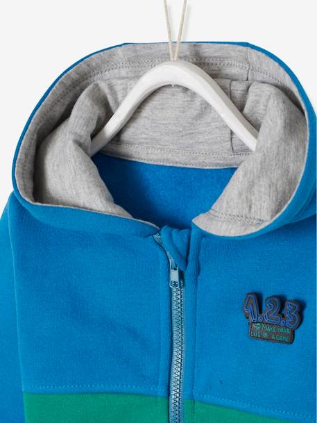 Jacket with Zip & Bright Colours for Baby Boys BLUE MEDIUM SOLID WITH DESIGN