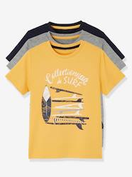 Boys-Tops-Pack of 3 Short-Sleeved T-Shirts for Boys