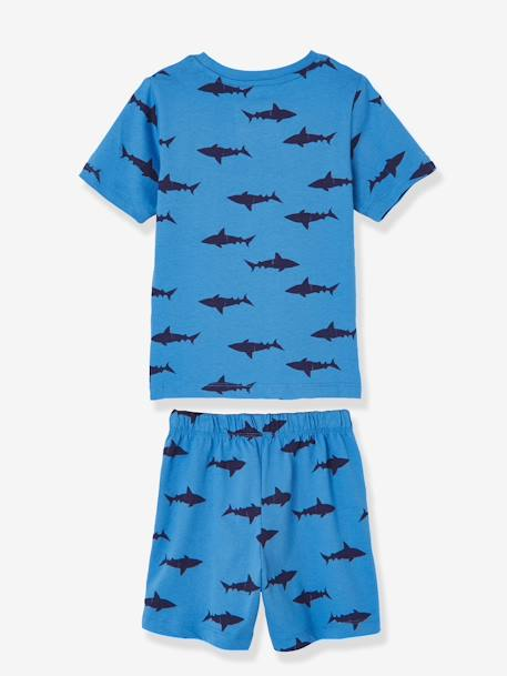Pack of 2 Mix & Match Short Pyjamas for Boys BLUE MEDIUM SOLID WITH DESIGN
