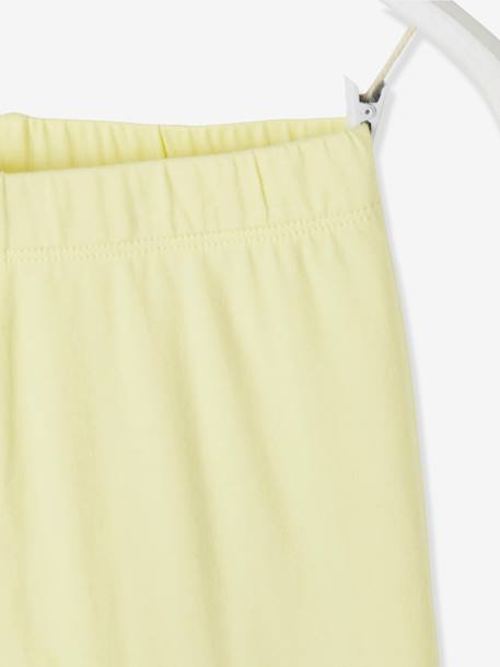 08cfda86ca561a Mid-Calf Leggings for Girls - yellow light solid, Girls | Vertbaudet