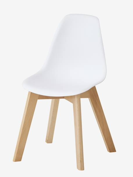 Scandinavian Chair, Pre-School Special, Seat Height 33 cm GREEN BRIGHT SOLID+WHITE LIGHT SOLID