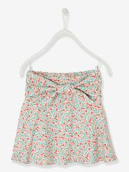 Girls-Skirts-Printed Skirt for Girls with Tie Belt