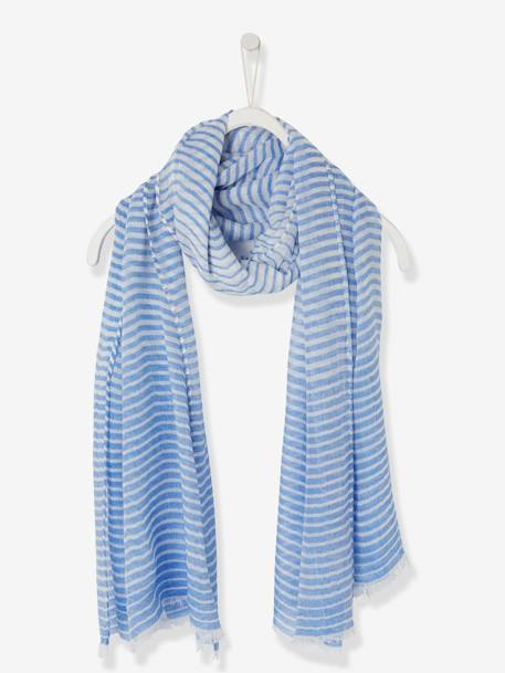 Striped Scarf for Boys BLUE LIGHT STRIPED