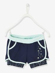 Girls-Shorts-Layered-Effect Sports Shorts & Short Leggings, for Girls