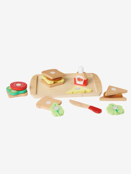 Set of Wooden Sandwiches YELLOW LIGHT SOLID WITH DESIGN