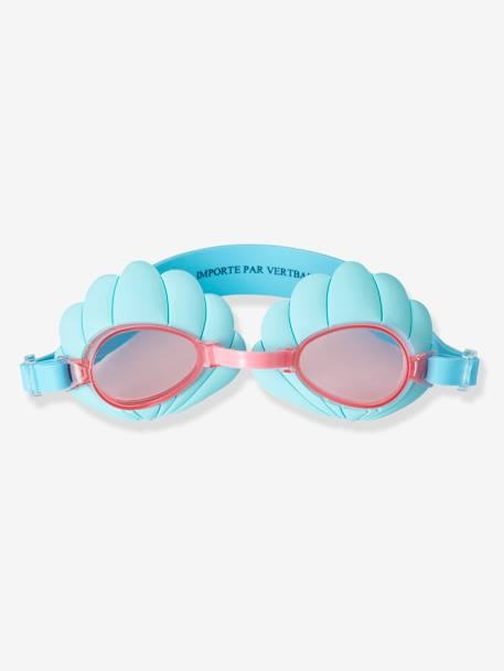 Shell-Shaped Goggles for Girls BLUE MEDIUM SOLID WITH DESIGN