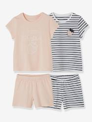 Girls-Pack of 2 Mix & Match Short Pyjamas for Girls