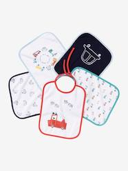 Nursery-Mealtime-Pack of 5 Bibs for Babies