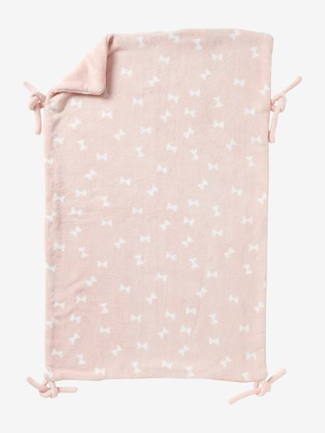 Vertbaudet Multi-Purpose Reversible Blanket BLUE MEDIUM ALL OVER PRINTED+GREY MEDIUM  ALL OVER PRINTED+PINK MEDIUM ALL OVER PRINTED+WHITE LIGHT ALL OVER PRINTED
