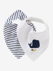 Nursery-Mealtime-Pack of 2 Bandana-Style Bibs