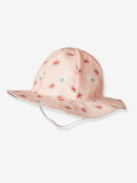 Bucket Hat with Watermelon Print for Babies PINK LIGHT ALL OVER PRINTED