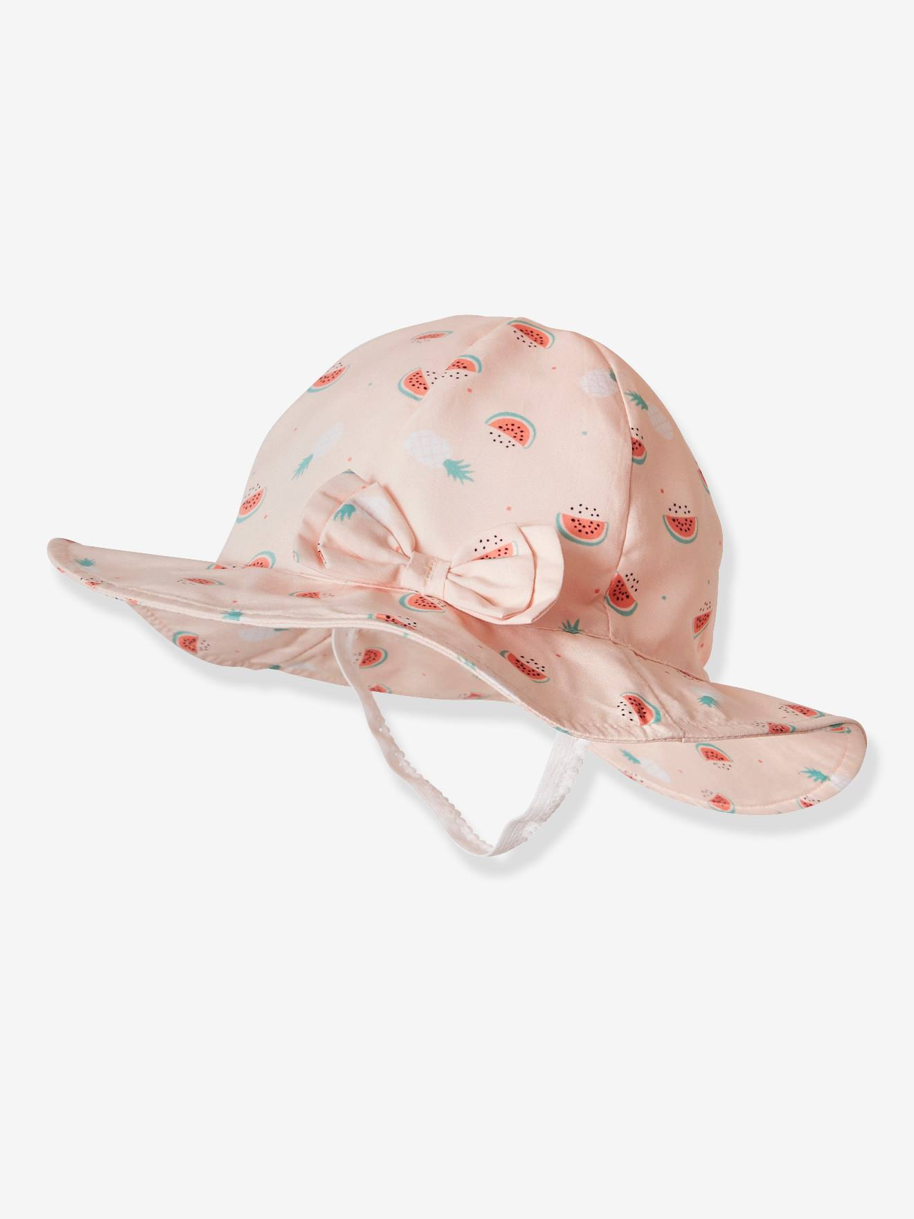 4569a44731 Bucket Hat with Watermelon Print for Babies - pink light all over printed  ...