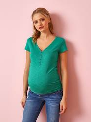 Maternity-T-shirts & Tops-Grandad-Style Maternity & Nursing T-Shirt