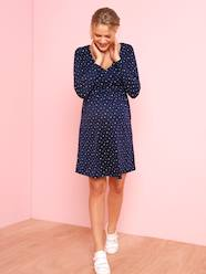 Maternity-Dresses-Adaptable Maternity & Nursing Wrapover Dress