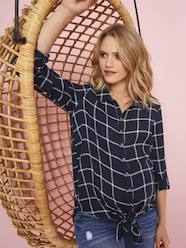 Maternity-Chequered Maternity Tunic