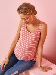 Maternity-T-shirts & Tops-Maternity & Breastfeeding Top with Bows on the Back