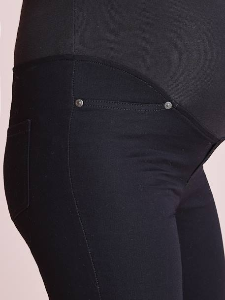 Maternity Stretch Fabric Treggings - Inside Leg 32' Black+Grey