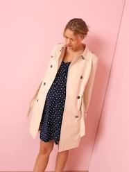 Maternity-Maternity Trench Coat in Fabric