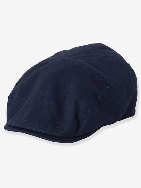 Cap for Boys BLUE DARK SOLID WITH DESIGN