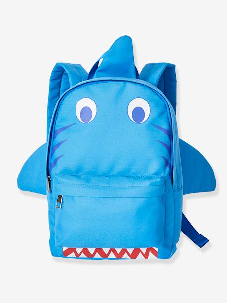Shark Backpack for Boys BLUE MEDIUM SOLID WITH DESIGN