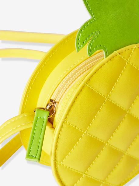 Pineapple Circle Body Bag for Girls YELLOW DARK SOLID