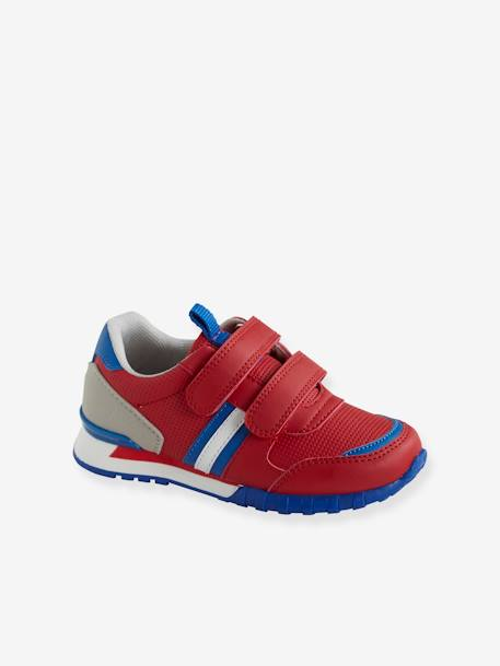 Running-Type Trainers with Touch-Fastening Tab, for Boys BLACK DARK SOLID WITH DESIGN+BLUE DARK TWO COLOR/MULTICOL+GREY LIGHT TWO COLOR/MULTICOL+RED MEDIUM 2 COLOR/MULTICOL