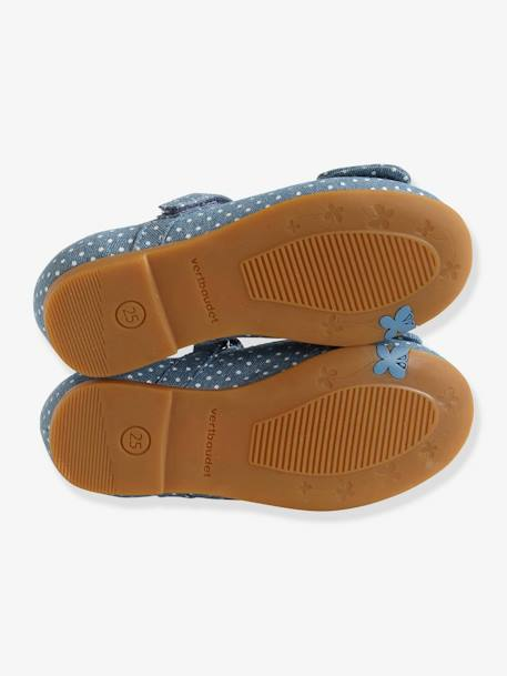 Mary Jane Shoes with Touch-Fastening Tabs for Girls, Designed for Autonomy BLUE MEDIUM ALL OVER PRINTED