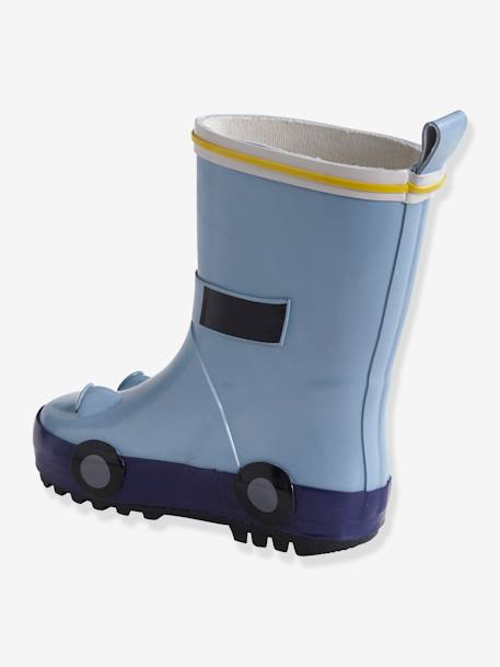 Rubber Wellies for Baby Boys BLUE LIGHT SOLID WITH DESIGN
