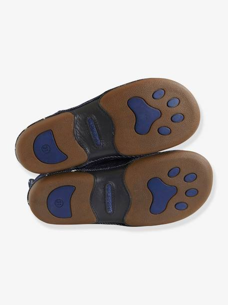 Elasticated Slippers for Boys BLUE DARK SOLID WITH DESIGN