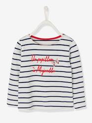 Girls-Tops-Sailor-Style Top with Inscription in Relief, for Girls