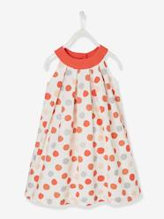 Girls-Dresses-Girls' Dress with Round Neckline and Cutaway Shoulders