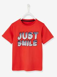"Boys-Tops-T-Shirt for Boys, ""just smile"" Inscription"