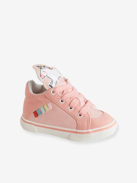 2a564c7c754cc6 Trainers with Unicorn-Shaped Tongue for Baby Girls - pink light 2  color multicol r